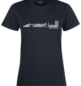 Made In Rttrdm Rotterdam Skyline Dames T-Shirt