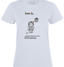 Made In Rttrdm Love is... Hugs and Kisses Dames T-shirt