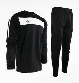 Training pak Neon-Lijn, Zwart/Wit