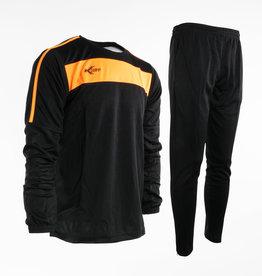 Training pak Neon-Lijn, Zwart/Oranje