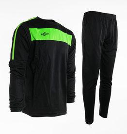 Training pak Neon-Lijn, Zwart/Groen