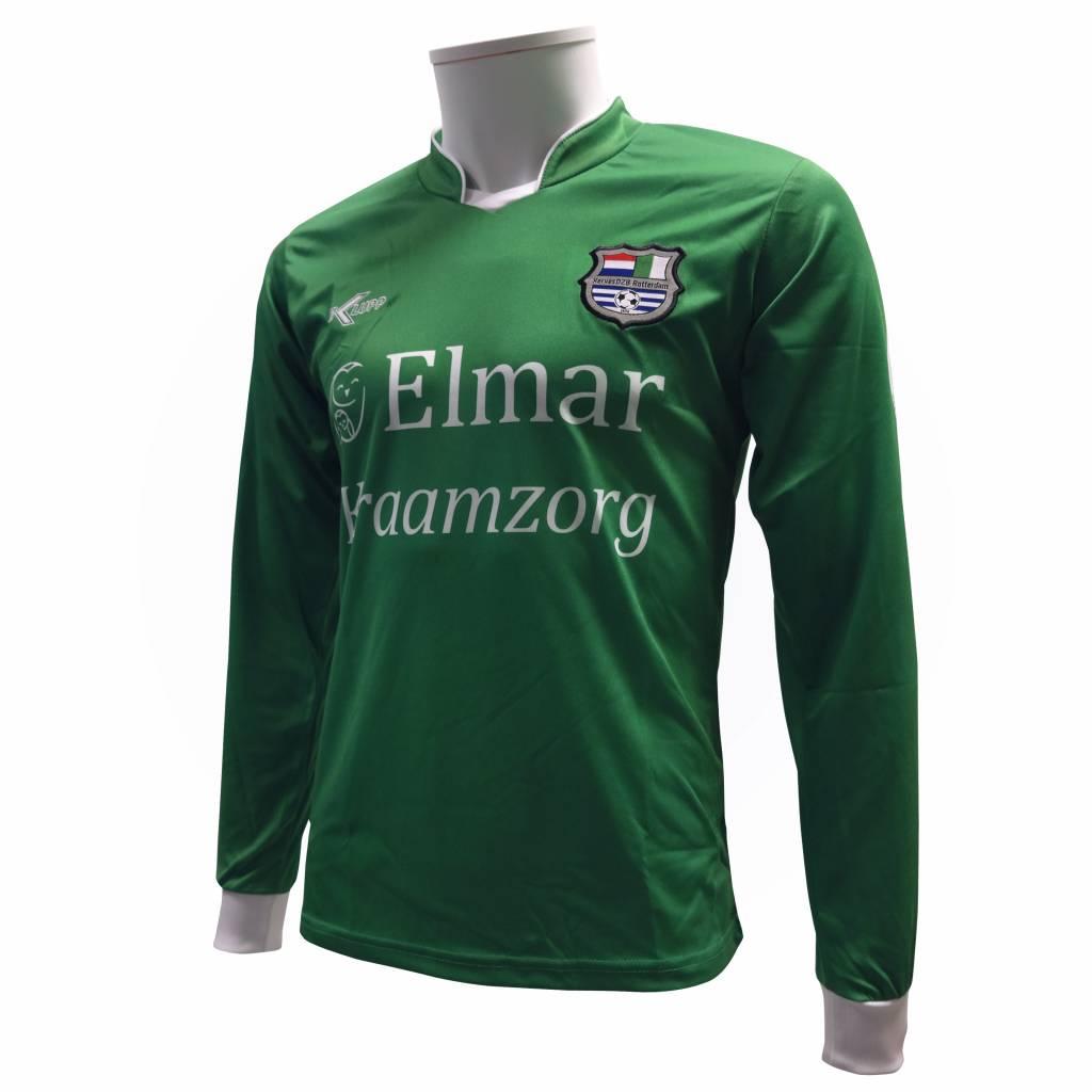 Klupp MAAT Shirt uit XerxesDZB, lange mouw, groen/wit