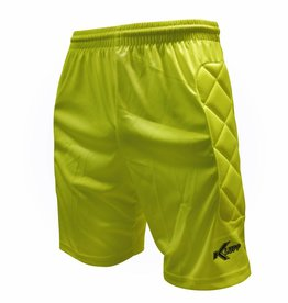 Klupp CAT Keeper short Neon met padding, Geel