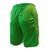Keeper short Neon met padding, Groen