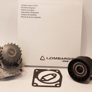 Lombardini Lombardini Wasserpumpe + Zahnriemen und Spanrolle für  LDW502-602-702-903-1003 Motor