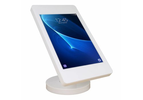 "Bravour Wall or desk stand for Samsung Galaxy Tab A 2016 10.1"" white-stainless steel Fino"