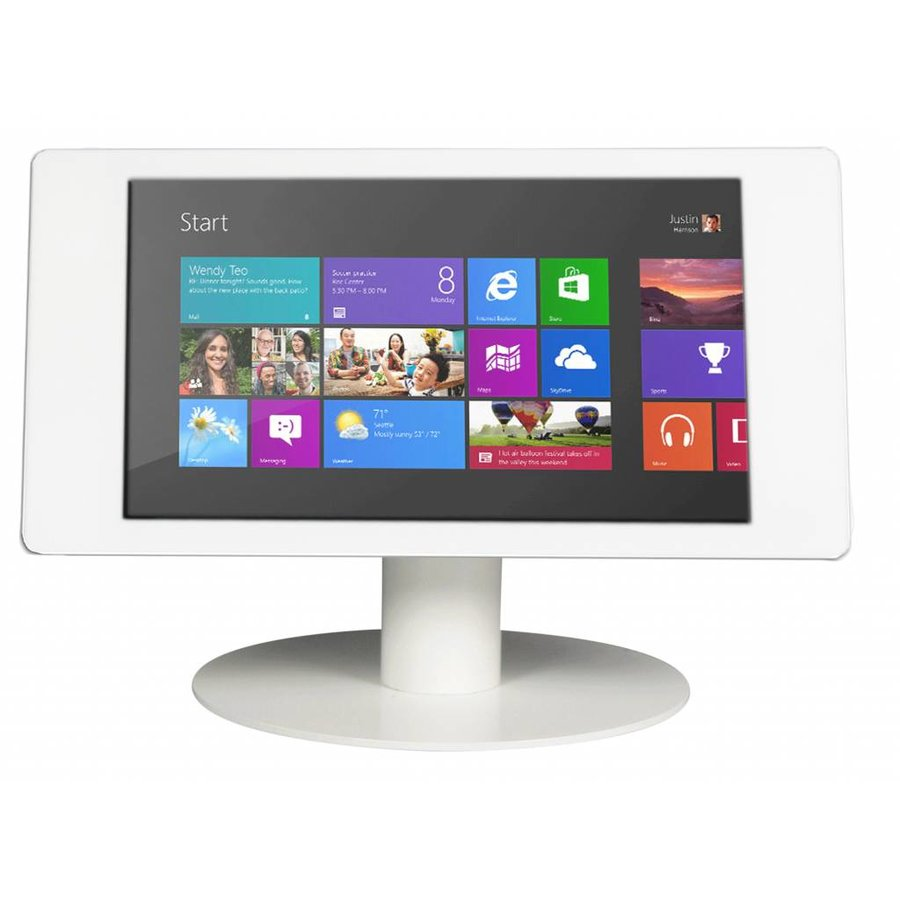 """Microsoft Surface Pro 4 12.3"""" desk stand Fino white-stainless steel"""