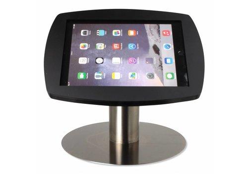 Bravour Lusso para iPad Air, iPad Air 2 y iPad Pro 9,7 montaje escritorio diseño curvo, cassette en acrílico negro, soporte en acero inoxidable