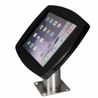 Lusso, black/stainless steel, iPad Air2/Pro 9,7 for mounting on table or wall, including lock