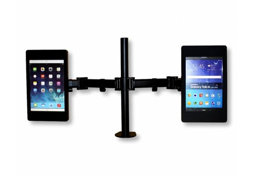 Bravour Flessibile tafel standaard voor Tablets, in hoogte verstelbaar, dubbelzijdige tablethouder + Fino