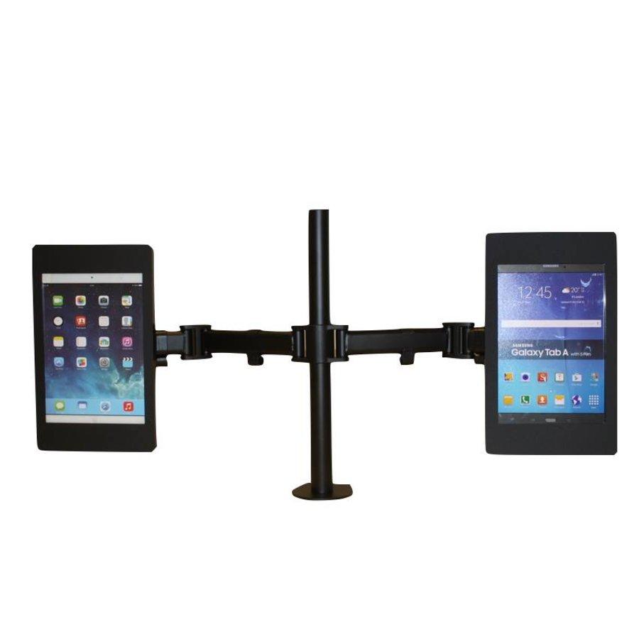 Soporte de escritorio con dos brazos flexibles, para cassette Fino, Flessibile