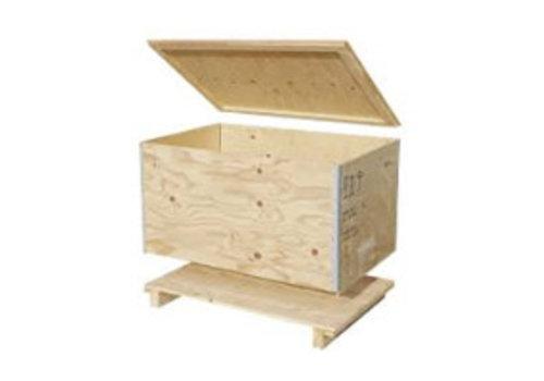 Bravour Transport container hout voor lessenaar