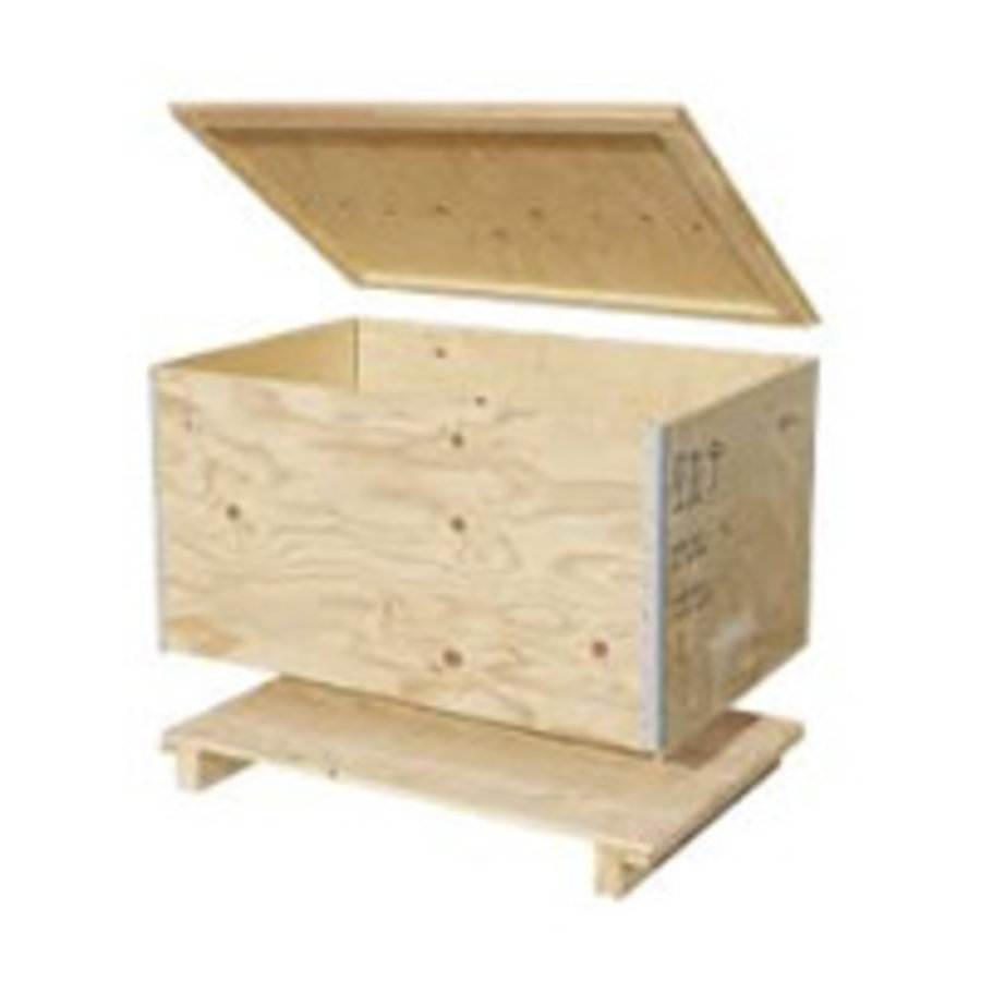 Caja de transporte madera reutilizable