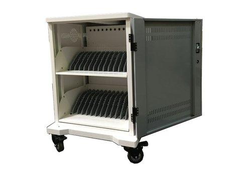 Parotec-IT T7 / T7 Plus - Unidad móvil de carga y sincronización 24 tablets, iPads, Netbooks, Notebooks y equipos portátiles