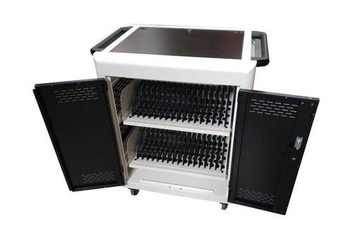 Parotec-IT Unidad móvil de carga y sincronización con 32 estaciones para tablet, iPads, Netbooks, Notebooks y equipos portátiles