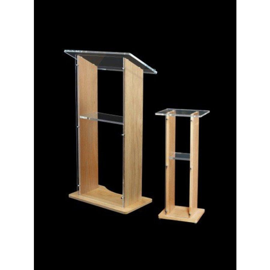 Esmeralda - Wanted wooden/acrylic lectern, Walnut, ash, oak colors