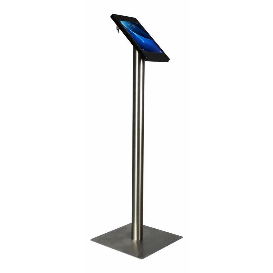 "Tablet floor stand Samsung Galaxy TAB 9.6"" black/stainless steel pedestal, Fino"
