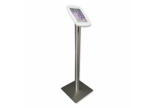 Bravour 10.5-inch iPadhouder, Lusso, zwart/wit met voet van geborsteld blank staal