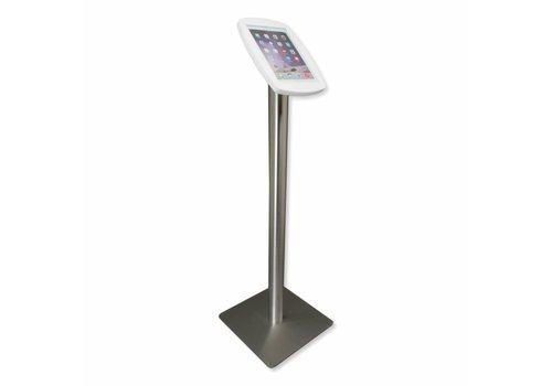 """Bravour iPad iPad 10.5"""" Floor stand, Lusso - black or white cassette with stainless steel base"""