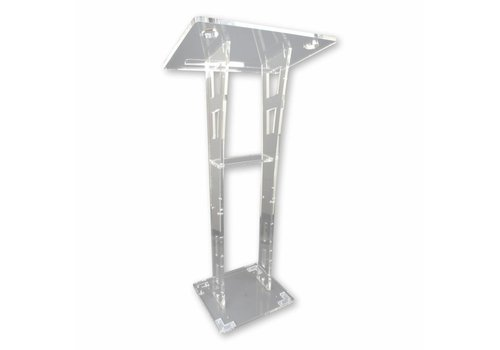 Bravour Ruby - Perspex lectern with carved design side panels