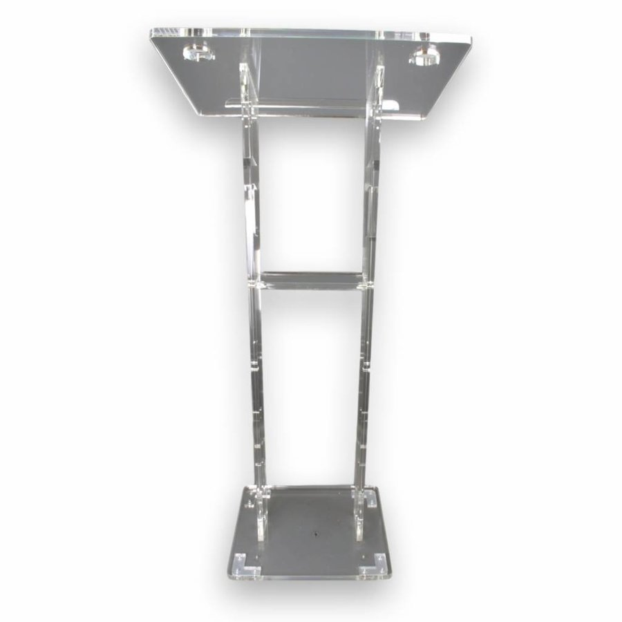 Ruby - Perspex lectern with carved design side panels