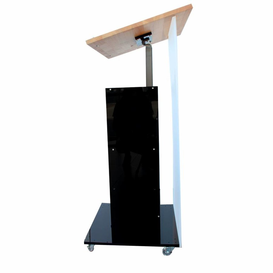 Notulus with electronic height adjustable