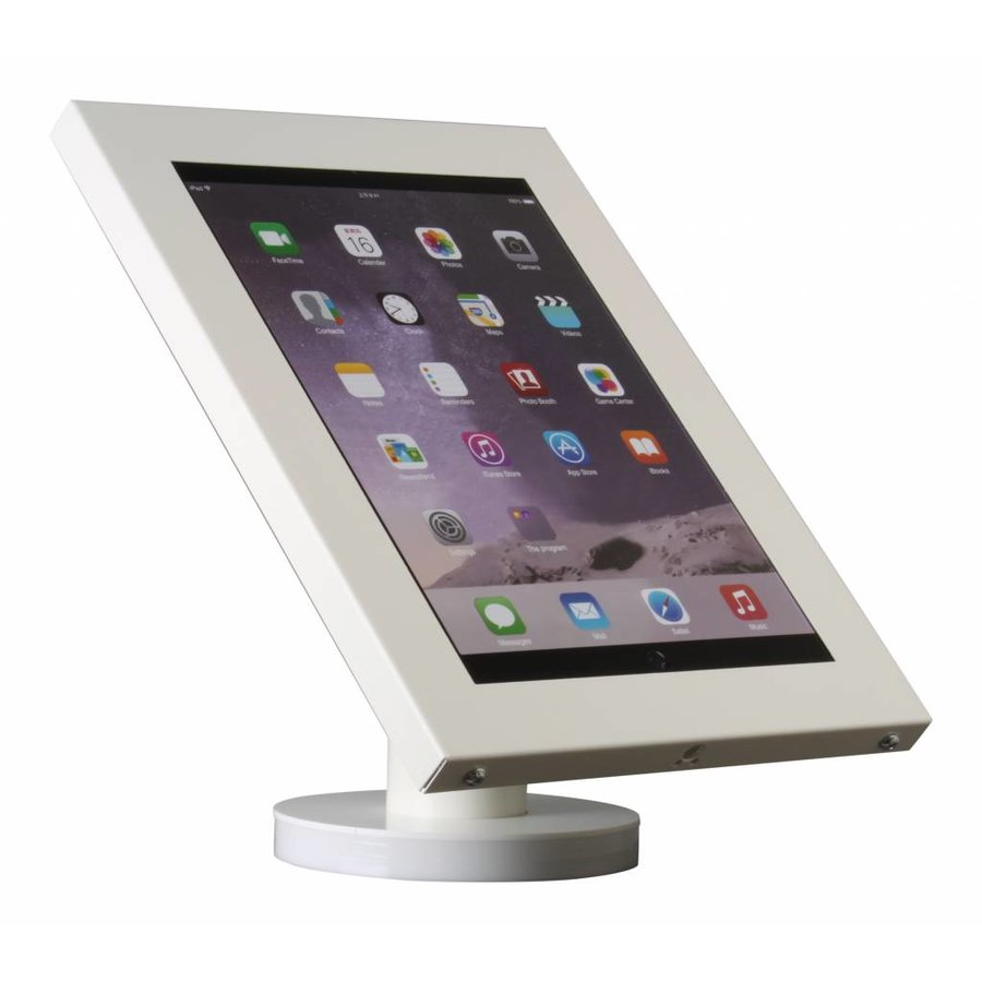 Tablet desk or wall mount Securo 12-13 inch white, rotable and lockable