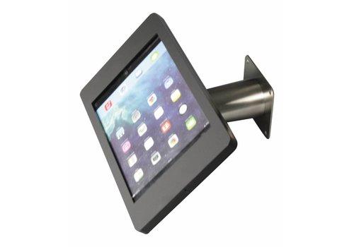 Bravour Soporte iPad pared/escritorio para iPad Pro 9,7, iPad Air, carcasa en acrílico negro, tubo metálico. Línea Fino