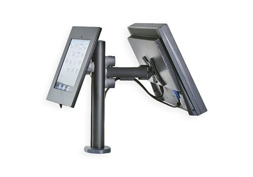 Point of sale RetailSystem, two-arm mounting for iPad and screen