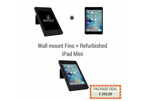 Bravour iPad wandhouder Fino + iPad Mini, zwart