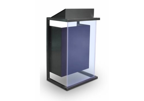 Bravour Box - Podium en acero combinado con panel frontal en madera o acrílico