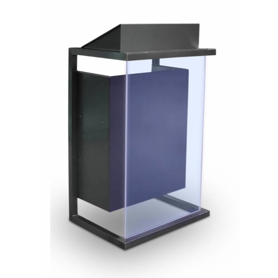 Box -stainless steel lectern wit acrylic or wood front panel