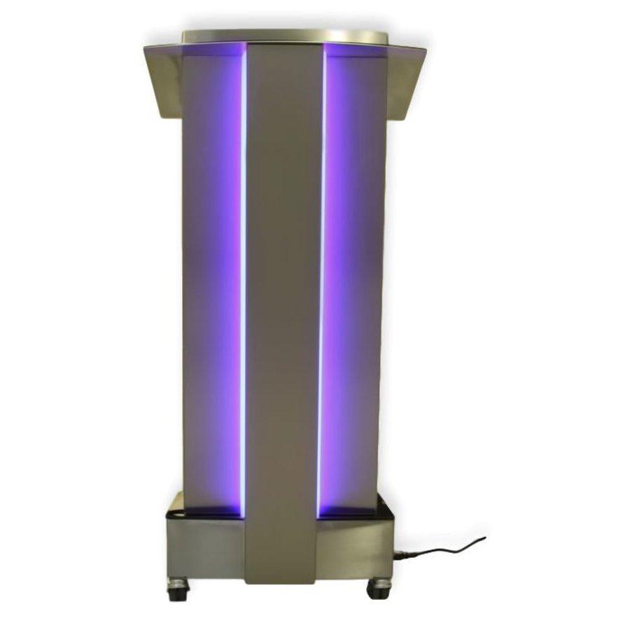 Skylight, Púlpito en acero inoxidable con iluminación LED