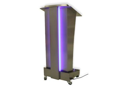 Bravour Spreekgestoelte Skylight metal, RVS katheder met verlichte details