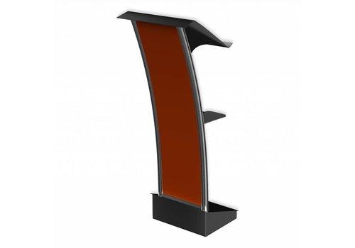 Bravour Voyager - Atril para discursos en acero inoxidable y placa frontal en plástico