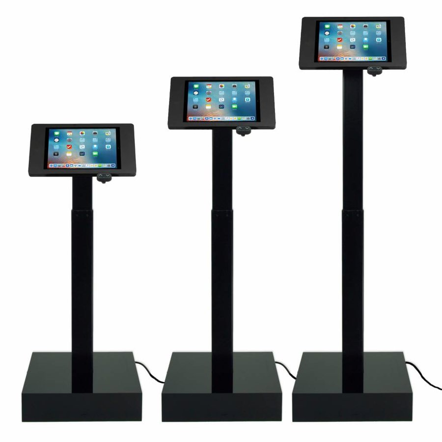 "Electronic height adjustable tablet display with universal Securo casing for all tablets between 12-13"", Ascento"