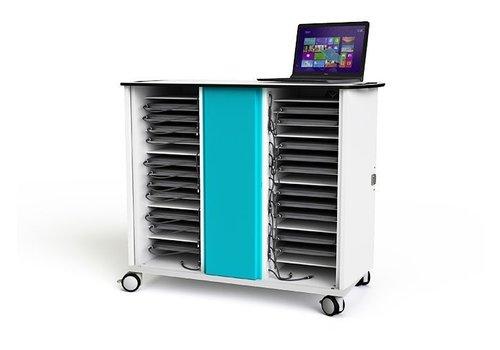 Zioxi Oplaadkast op wielen voor 30 Chromebooks, Laptops en Notebooks tot 15,6 inch