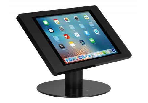 Bravour Tafelstandaard voor iPad Pro 12.9; Fino zwarte acrylaat behuizing met slot en voet van gecoat staal