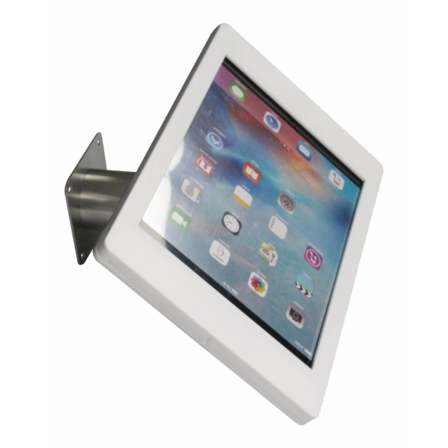 "iPad Pro 12.9"" wall or desk mount Fino white with stainless steel base"