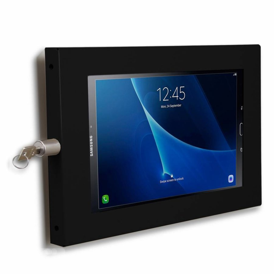 """Tablet wall holder Ferro for Galaxy Tab A 10.1"""" and other 10.1"""" inch tablets, black"""