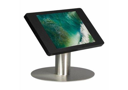 """Bravour Tafelstandaard voor iPad 10.5"""" cassette zwart met voet van geborsteld blank staal, Fino"""