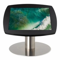 "Desk stand for iPad 10.5"" black cassette with stainless steel base, lock included"