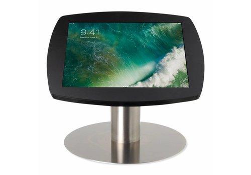 """Bravour Tafelstandaard voor iPad 10.5"""" cassette zwart met voet van geborsteld blank staal, Lusso"""