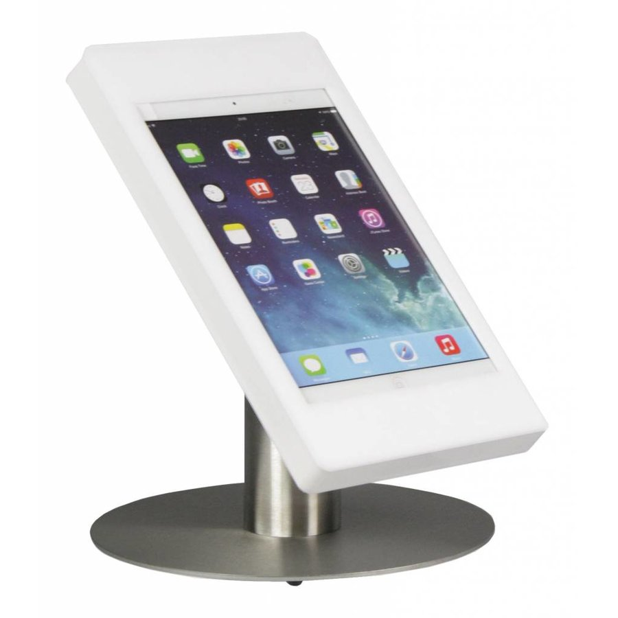 "iPad pro 9.7"" & iPad Air 1/2 desk stand Fino white/stainless steel, especially developed for iPad pro 9.7"" & iPad Air 1/2"