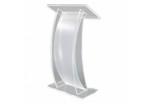 Bravour Arya - clear acrylic lectern with curved front plate