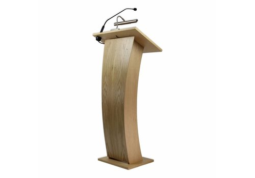 Bravour Castor - Lectern with curved front panel
