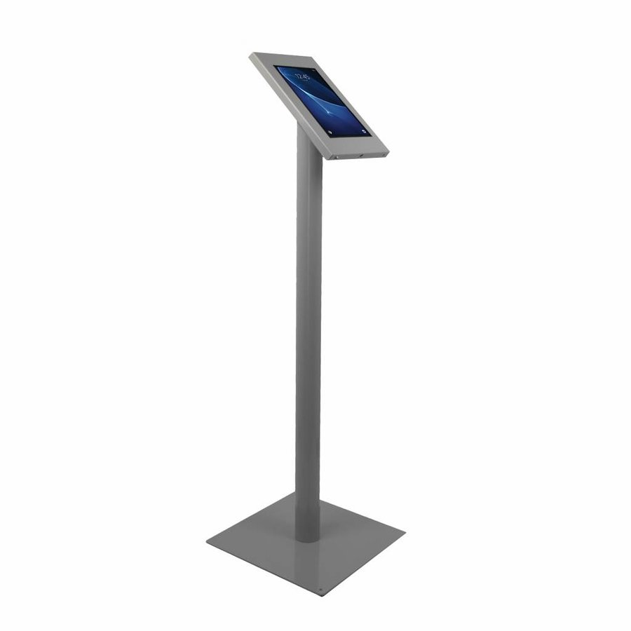 """Tablet floor mount Ferro for Samsung 10.1"""" inch tablets, grey, coated and sturdy steel"""