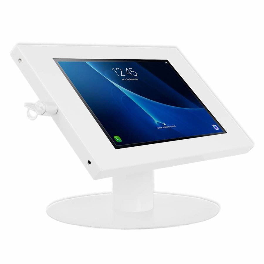 "Tablet desk stand for Samsung Galaxy Tab  A 10.1"" inch tablets, Ferro, white"