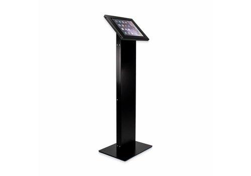 Bravour Tabletzuil display kiosk voor tablets tussen 9-11 inch Chiosco, zwart