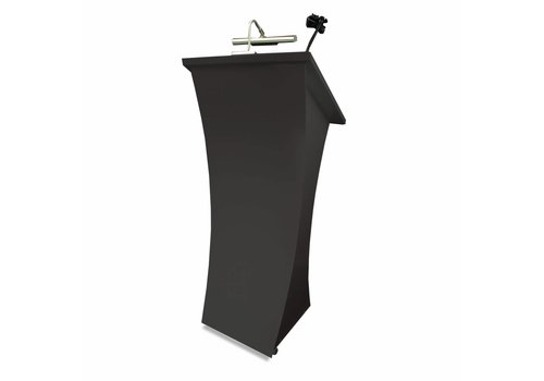 Bravour Neptune Graphite- Lectern with curved frontpanel